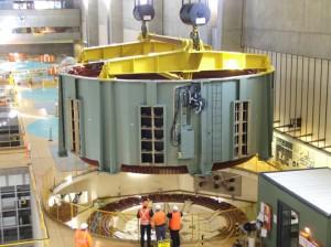 Tumut 3 249 tonne stator lift