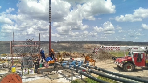Dewatering an active zinc mine