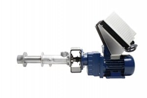 Progressive cavity metering pump with integrated programmable drive.