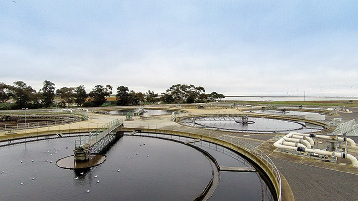 The Bolivar Wastewater Treatment Plant.