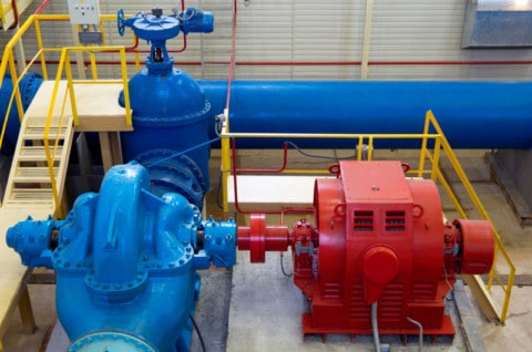 New pipelines for water pump station