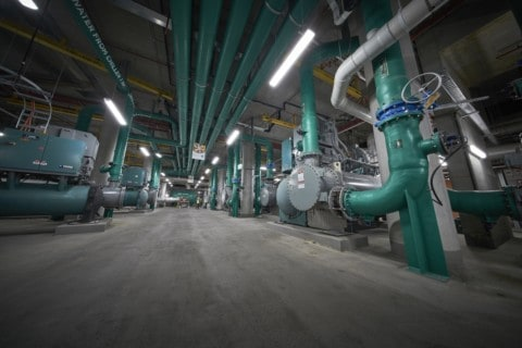 Hiding HVAC and water treatment facilities in a Barangaroo basement