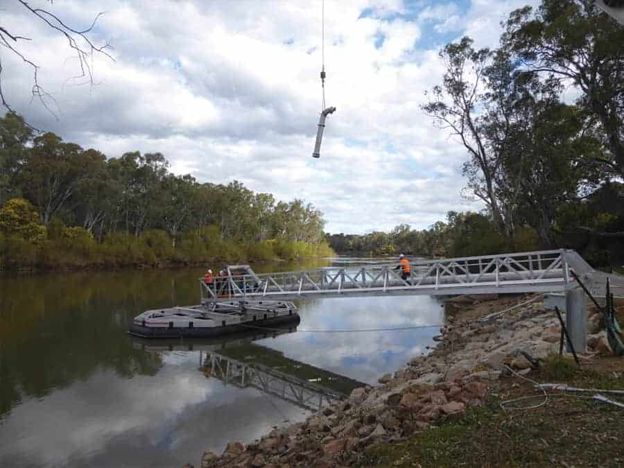 Designing a floating pump station to solve long-standing