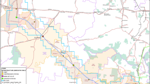 Proposed route for Galilee Gas Pipeline revealed