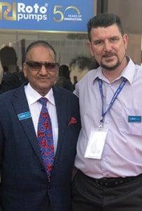 James with Mr Harish Chandra Gupta
