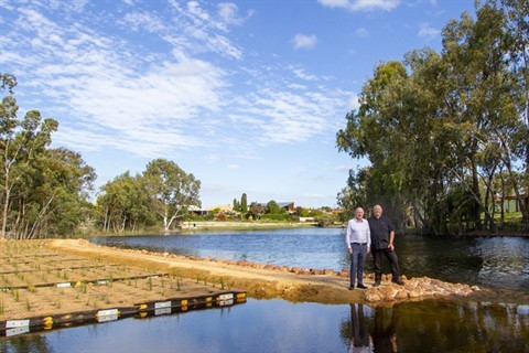 City rejuvenates lake with the help of a new pump