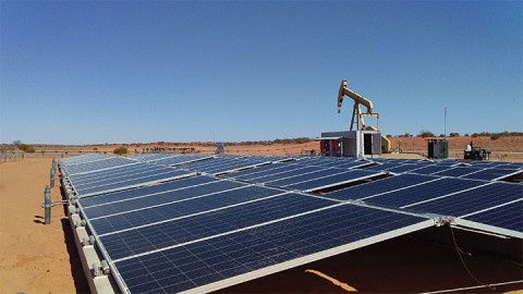 Converting crude oil beam pumps to solar power in the Cooper Basin
