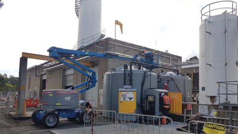 Temporary solution for a wastewater plant
