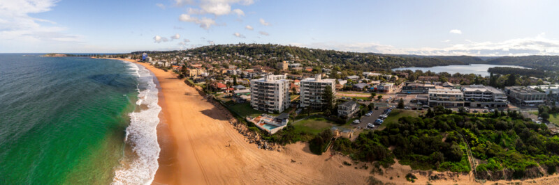 aerial view of Narrabeen